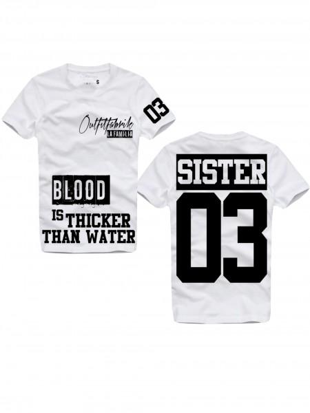 Shirt SISTER, weiß