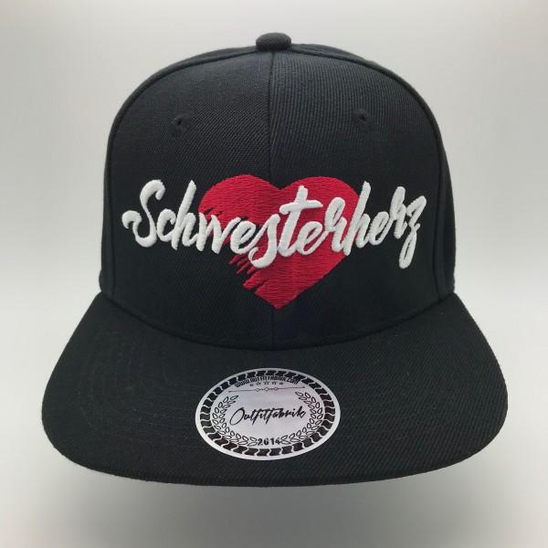 Cap SCHWESTERHERZ, schwarz