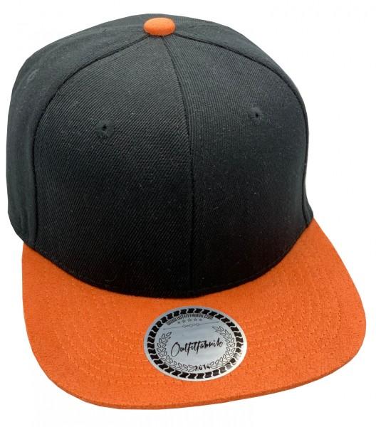Cap BLANKO in schwarz/orange