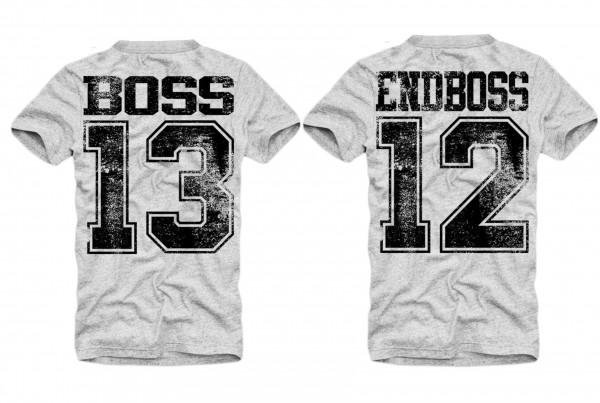 Shirt BOSS oder ENDBOSS, grau