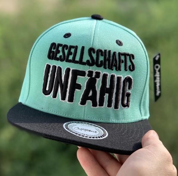 Snapback Cap GESELLSCHAFTS-UNFÄHIG, mint