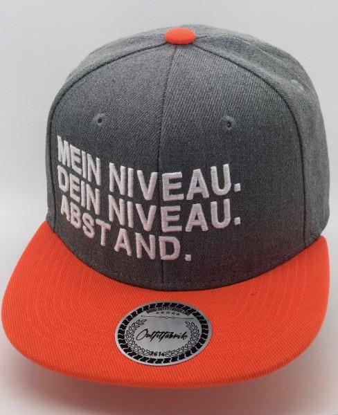 Snapback Cap MEIN NIVEAU. DEIN NIVEAU. ABSTAND, orange