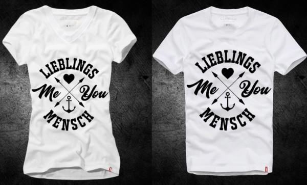 Shirt LIEBLINGSMENSCH - ME & YOU , weiß