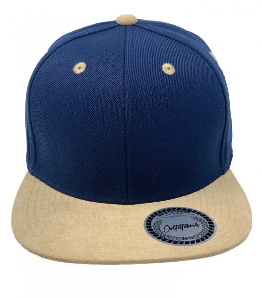 Cap BLANKO in royalblau/beige
