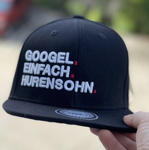 Snapback Cap GOOGEL EINFACH HURENSOHN, schwarz