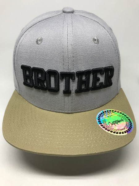 KIDS-Cap BROTHER, grau/beige