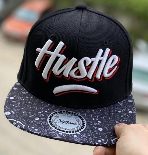Snapback Cap HUSTLE, schwarz/Paisley