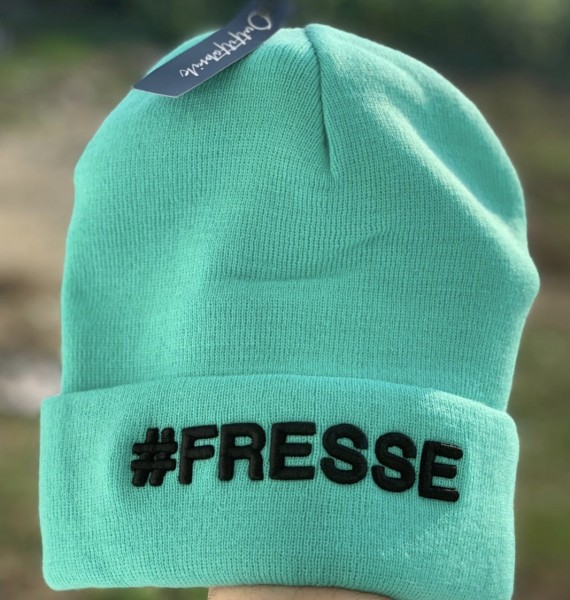 Beanie #FRESSE, mint