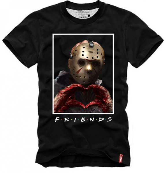 Shirt FRIENDS-JASON VOORHEES, schwarz