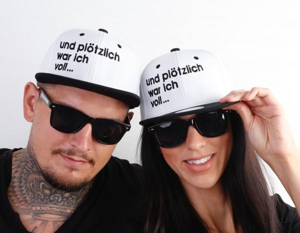 Snapback Cap PLÖTZLICH VOLL... , schwarz/weiß