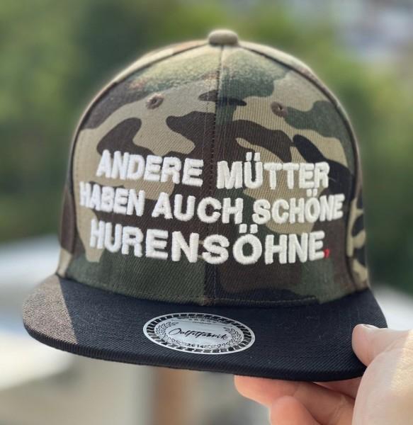 Cap ANDERE MÜTTER HABEN AUCH SCHÖNE HURENSÖHNE, camouflage