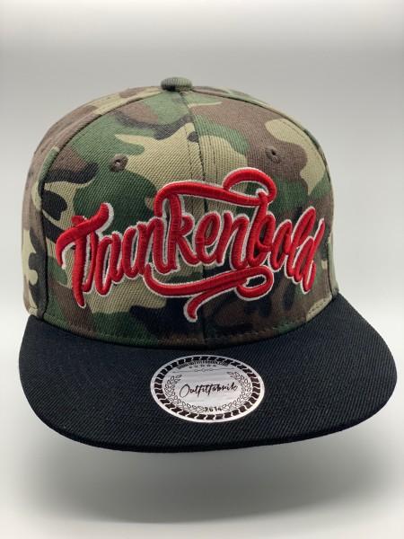 Snapback Cap TRUNKENBOLD, camouflage/schwarz