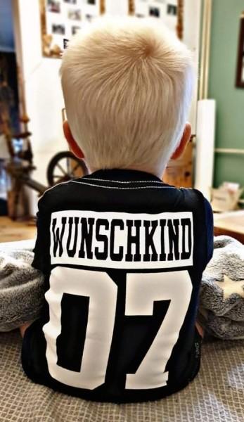 Kindershirt WUNSCHKIND, schwarz