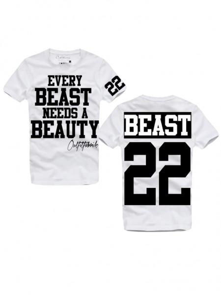 Shirt BEAST, weiß