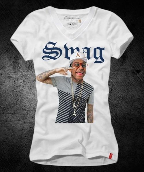 Girls-Shirt SWAG, weiß