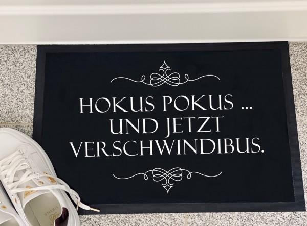 Fußmatte HOKUS POKUS VERSCHWINDIBUS, schwarz
