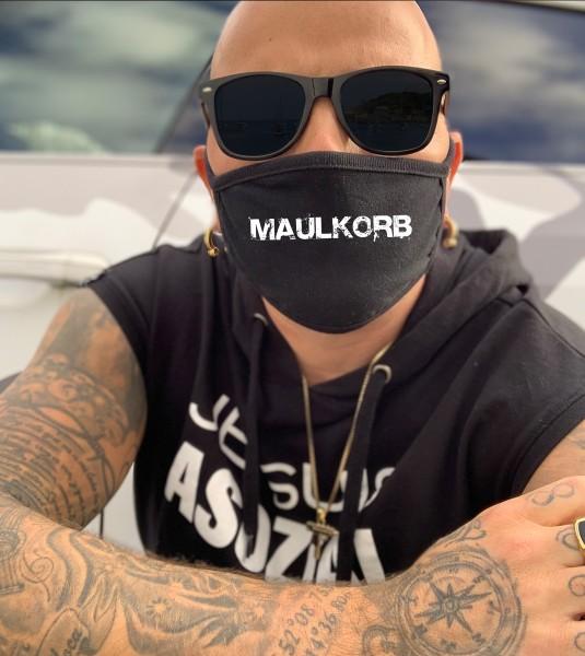 Nasen-Mund-Maske MAULKORB, schwarz
