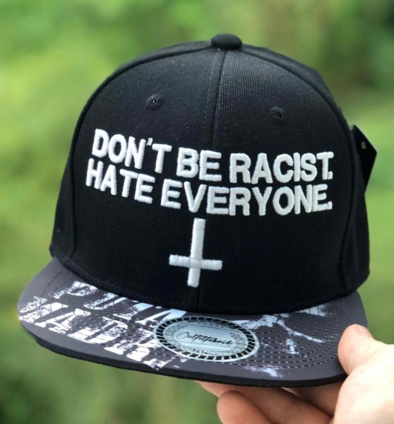 Snapback Cap DON´T BE RACIST. HATE EVERYONE, Puta Madre