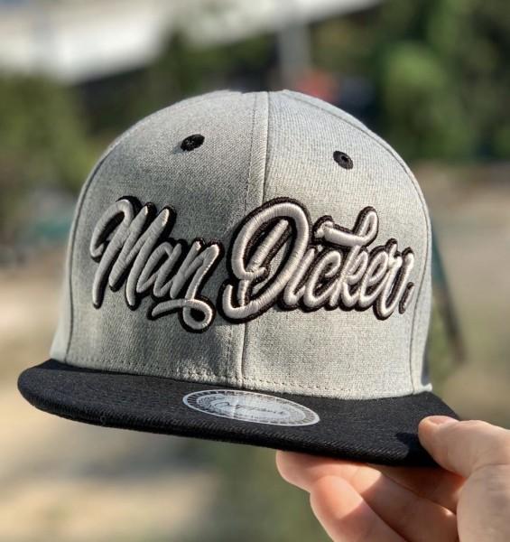 Snapback Cap MAN DICKER , grau/schwarz