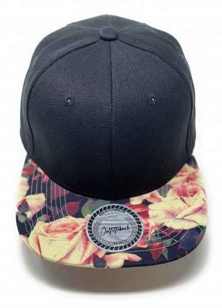 Cap BLANKO in schwarz/flower