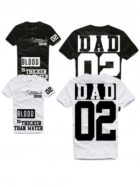 Shirt DAD, schwarz oder weiß