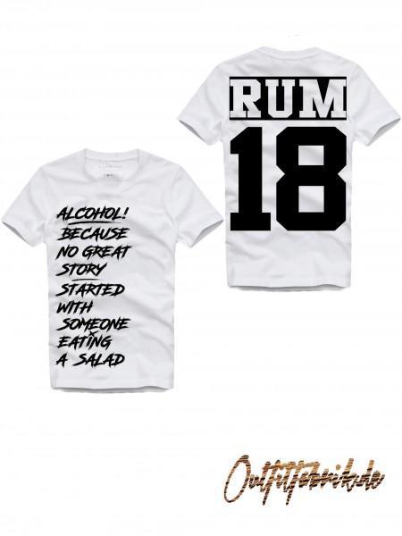 Shirt RUM, weiß