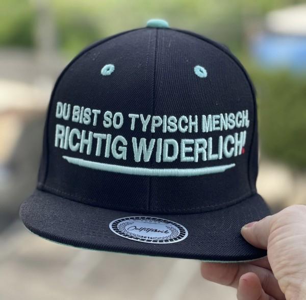 Snapback Cap TYPISCH MENSCH, schwarz/mint