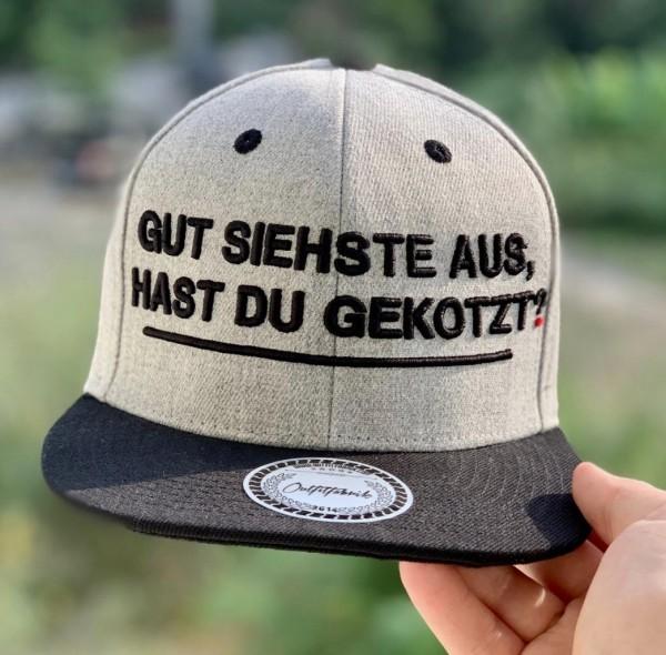 Snapback Cap GUT SIEHSTE AUS, grau/schwarz