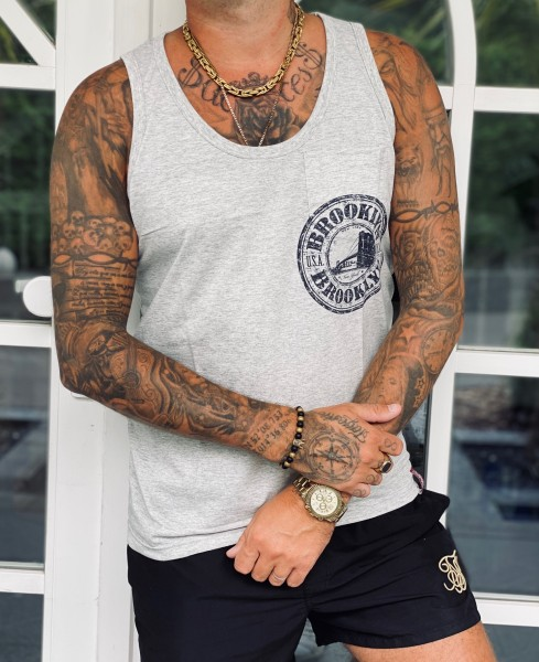 Tank Top BROOKLYN, grau melange