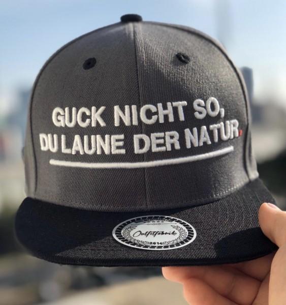 Cap GUCK NICHT SO DU LAUNE DER NATUR , dunkelgrau