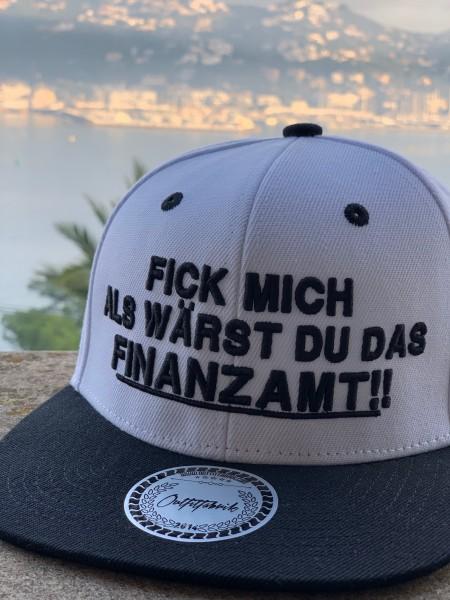 Snapback Cap FINANZAMT, weiß/schwarz