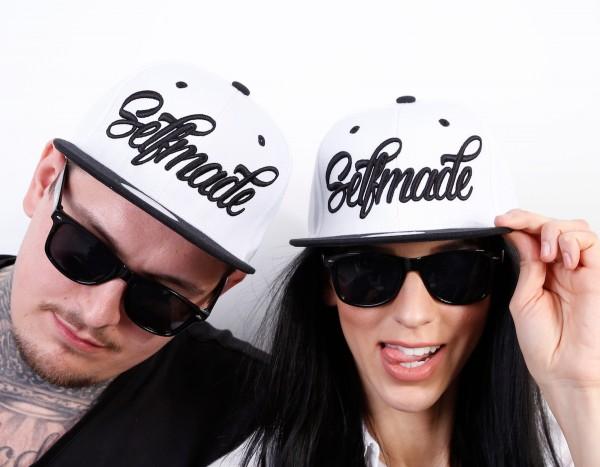 Snapback Cap SELFMADE, weiß/Paisley