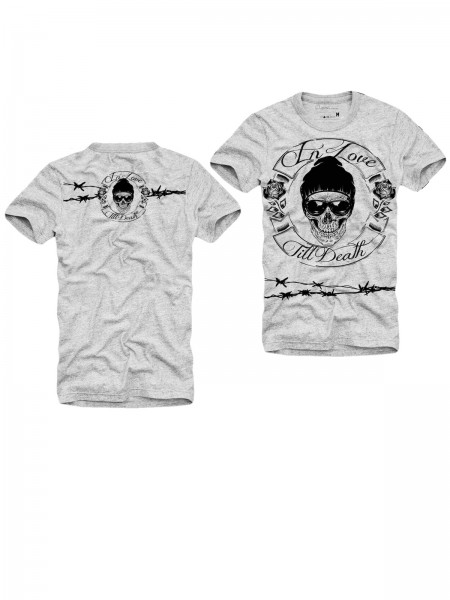 Shirt IN LOVE TILL DEATH - BOY, grau melange