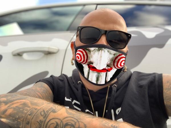 Nasen-Mund-Maske JIGSAW, schwarz