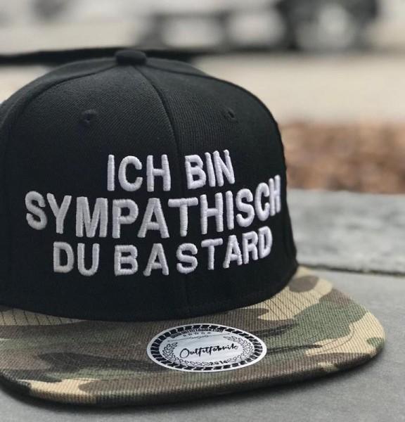 Snapback Cap BASTARD, schwarz/camouflage