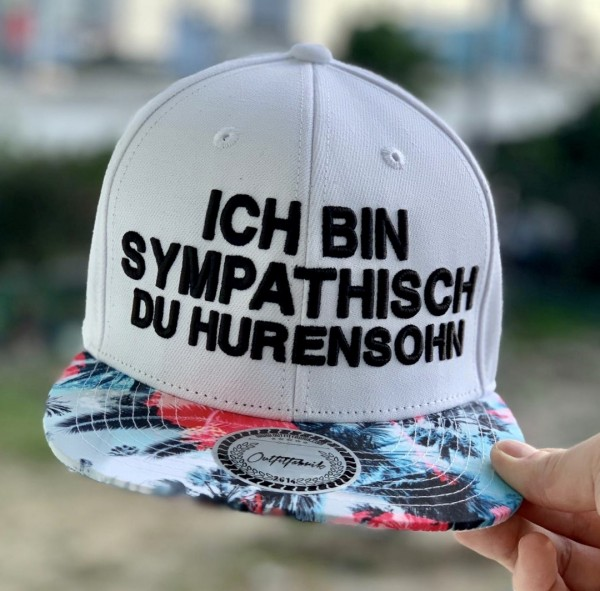 Snapback Cap HURENSOHN, weiß