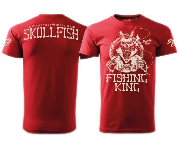 "Shirt ""Fishing King"" in rot"