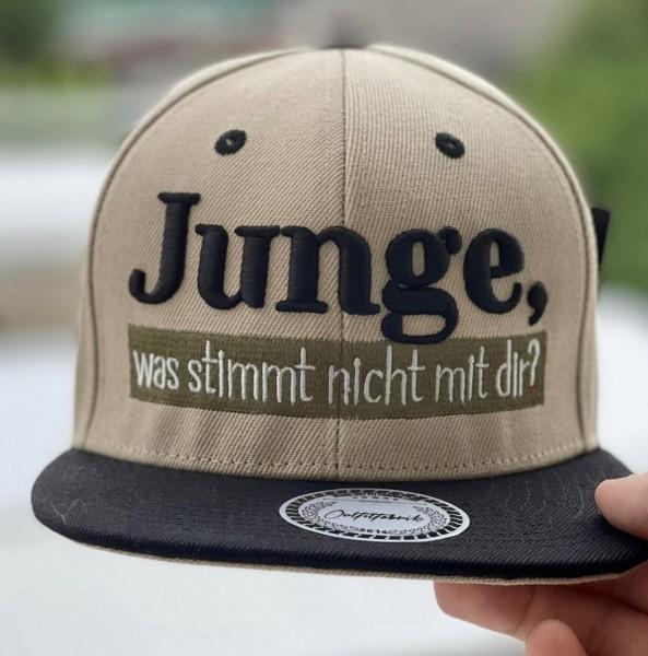 Cap JUNGE, WAS STIMMT NICHT MIT DIR?, sand