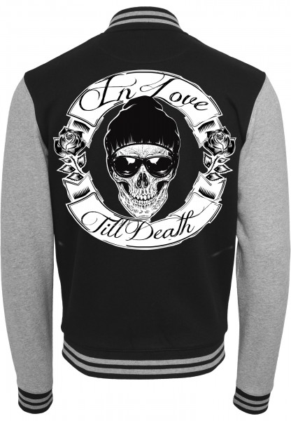 Collegejacke IN LOVE TILL DEATH - BOY, schwarz/grau