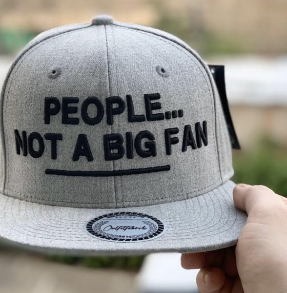 Snapback Cap PEOPLE...NOT A BIG FAN, grau