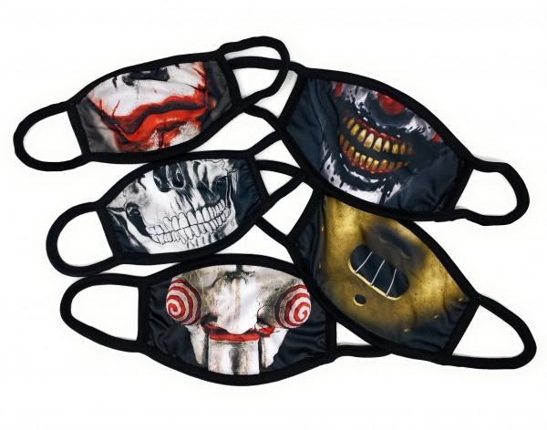"""SPAR-SET Nasen-Mund-Masken, 5 STÜCK """"HORROR"""""""