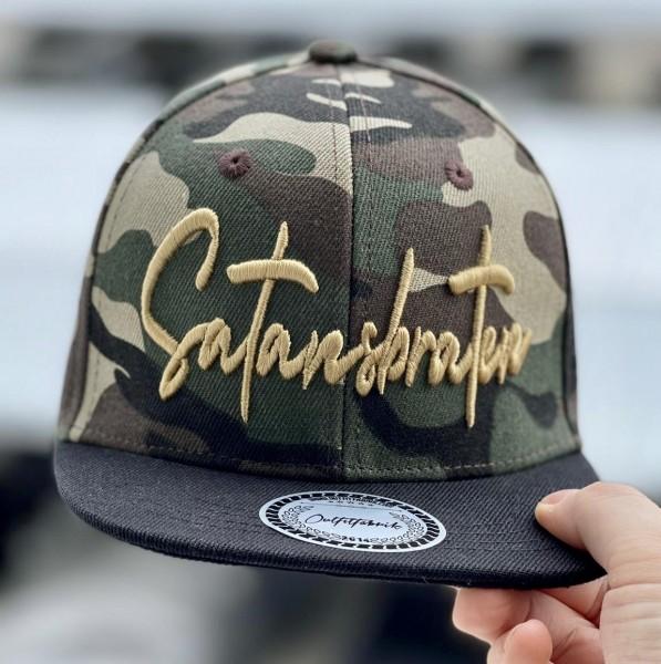 KIDS-Cap SATANSBRATEN camouflage/schwarz