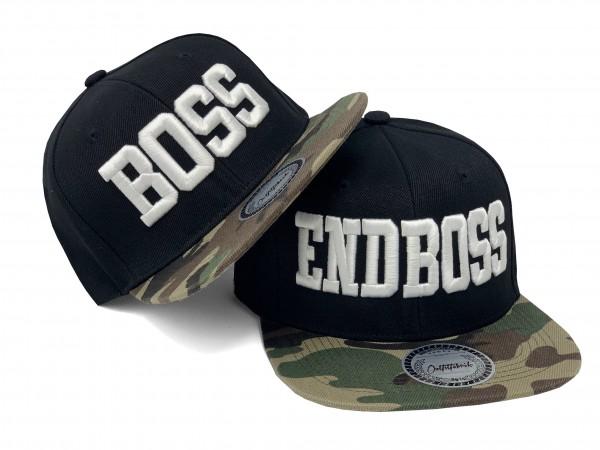 Cap BOSS oder ENDBOSS, schwarz/camo