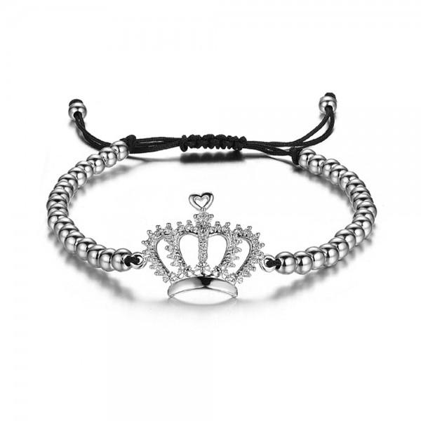 Armband - Krone Queen/silberfarben