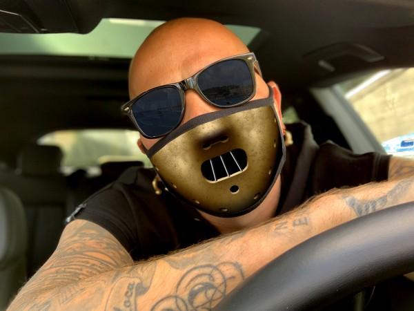 Nasen-Mund-Maske HANNIBAL, schwarz