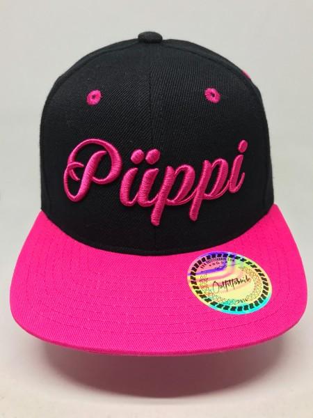KIDS-Cap PÜPPI, schwarz,pink