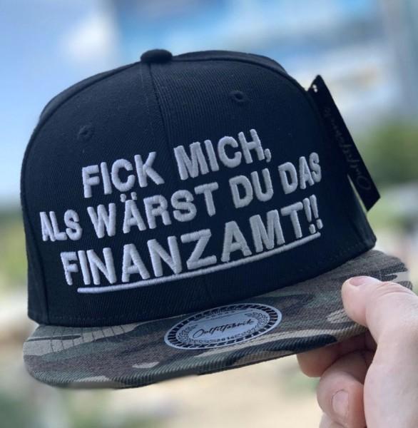 Snapback Cap FINANZAMT, schwarz/camouflage