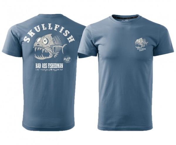 """Shirt """"Skullfish"""" in blau"""