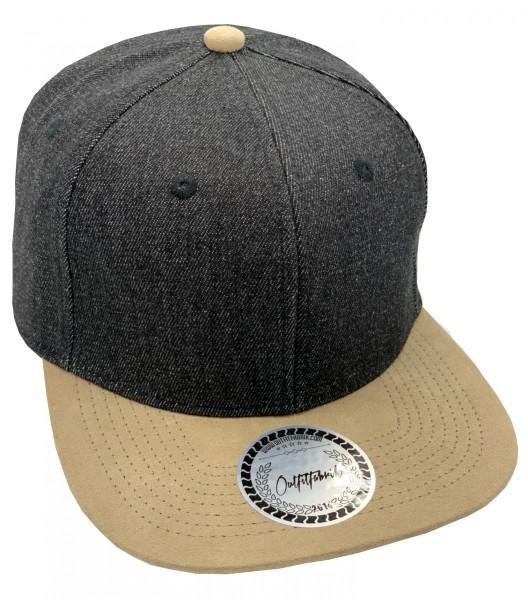 Cap BLANKO in Jeans-schwarz/beige
