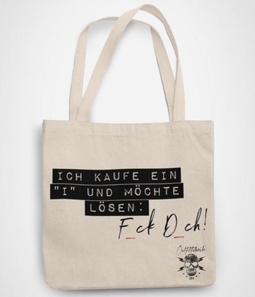 """Shopping Bag, ICH KAUFE EIN """"I"""" UND MÖCHTE LÖSEN"""